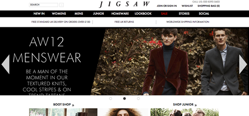 Jigsaw Ecommerce Website