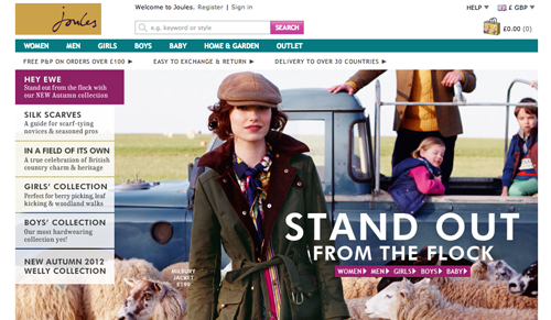 Joules Ecommerce Website