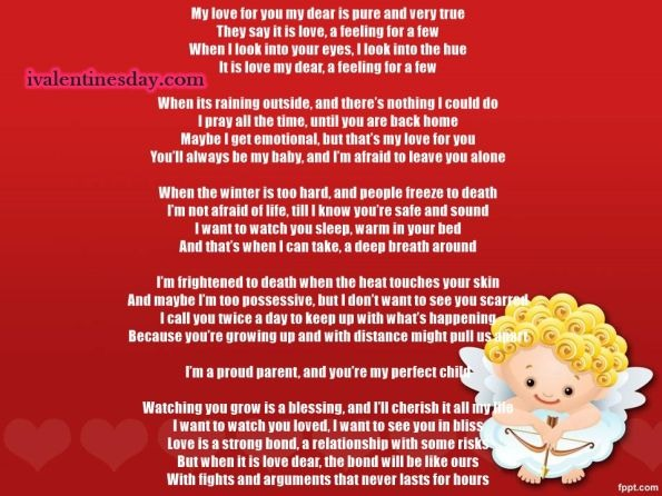 happy valentines day poems for him