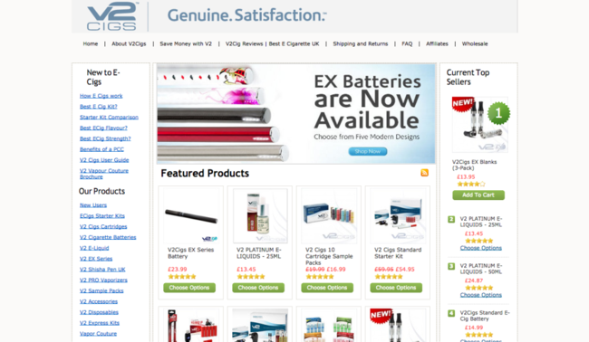 V2 Cigs UK Shop Voted Best Electronic Cigarette UK by E Cigarette Reviews