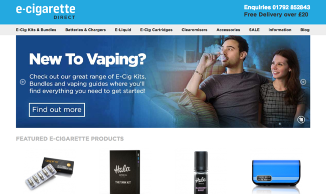 E Cigarettes E Liquid Vaping Products ECigaretteDirect