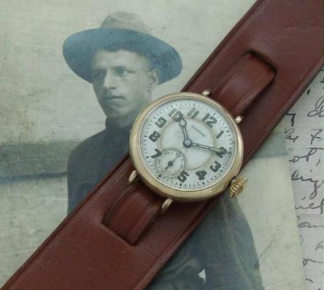 1916 Illinois WWI Wire-Lug Trench Watch