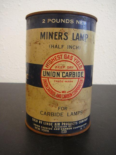 Union Carbide Coal Miner S Lamp Can W Calcium Bureau Of