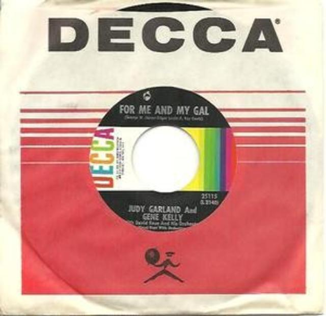 "Garland & Kelly 45 – ""For Me and My Gal""/""When You Wore a Tulip"""