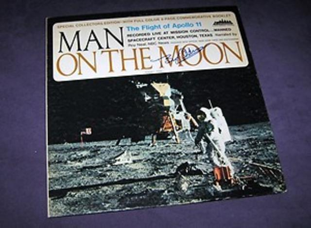 Buzz Aldrin-Signed <i>Man on the Moon</i> LP