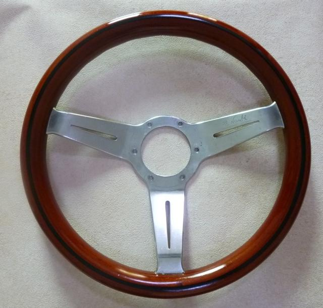 Vintage Nardi Wood Steering Wheel