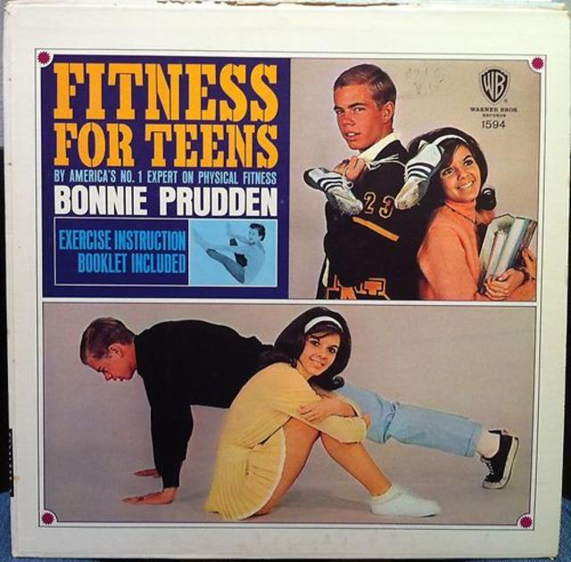 Bonnie Prudden, <i>Fitness for Teens</i> LP and Poster, 1962