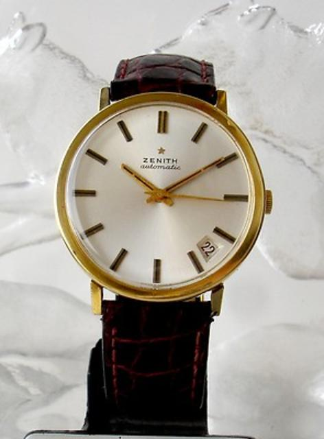 1960s Zenith 18k Gold Watch