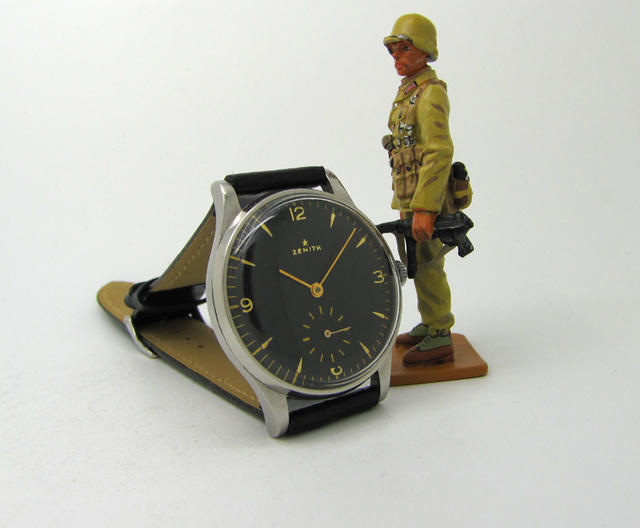 Military Zenith Stainless Steel Wristwatch