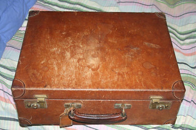 Antique Leather Swaine Briefcase