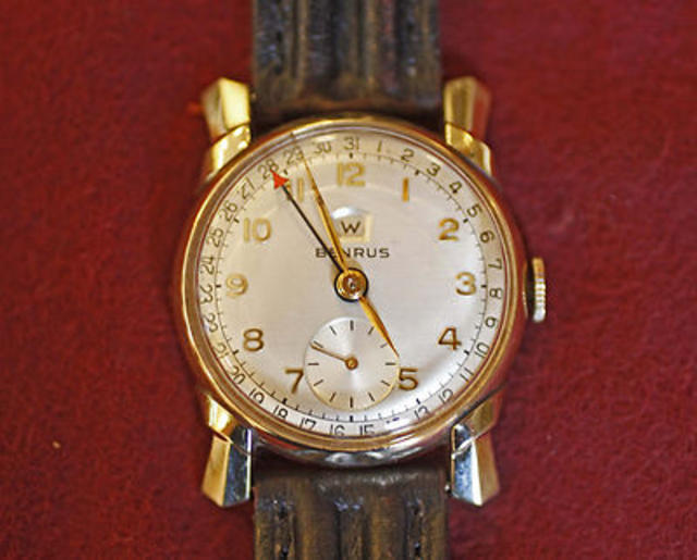 Benrus Mid-Century Deco Pointer-Date Watch