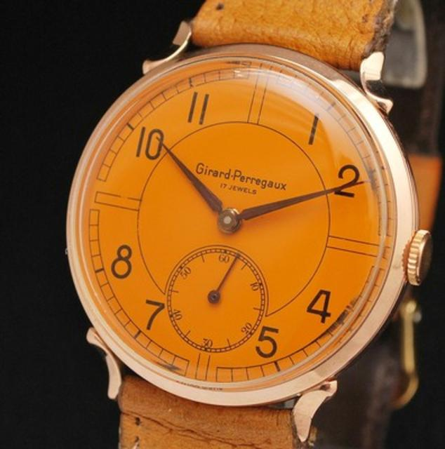 18k Gold Orange Watch