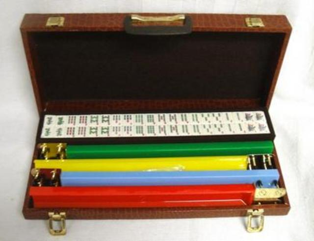 Bakelite Mah-Jongg Set in Snakeskin Case