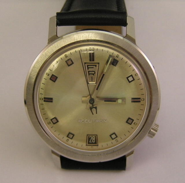 Vintage Bulova Accutron Up-Down Day-Date Watch, 1969