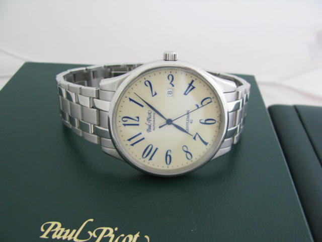 Ivory and Stainless Steel Wristwatch