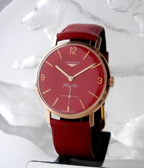 1968 Longines Flagship Red Dial Watch