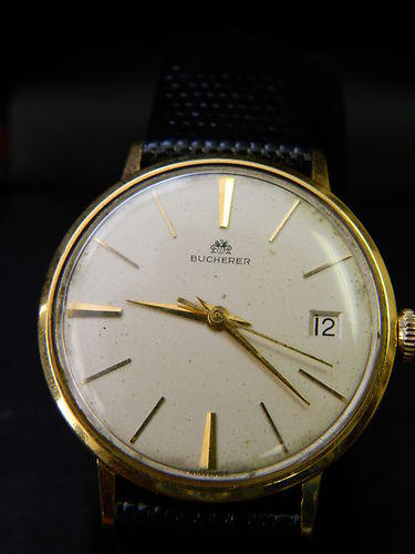 18k Gold 21-Jewel Wristwatch