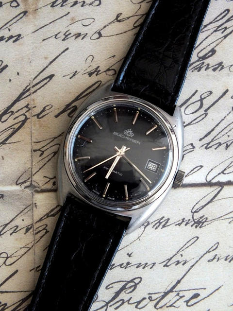Vintage Black Wristwatch
