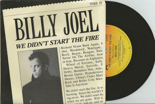 &lt;i&gt;We Didnt Start the Fire&lt;/i&gt; 7-inch 45 Vinyl Record 