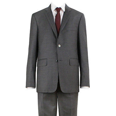 Gray Pinstripe Suit