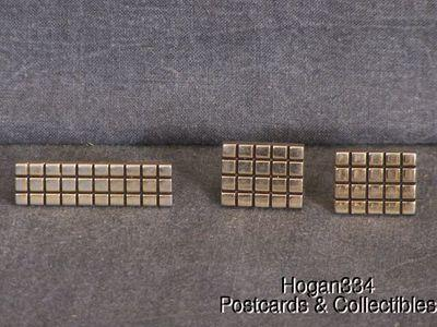 Grid Tie Clip and Cuff Links