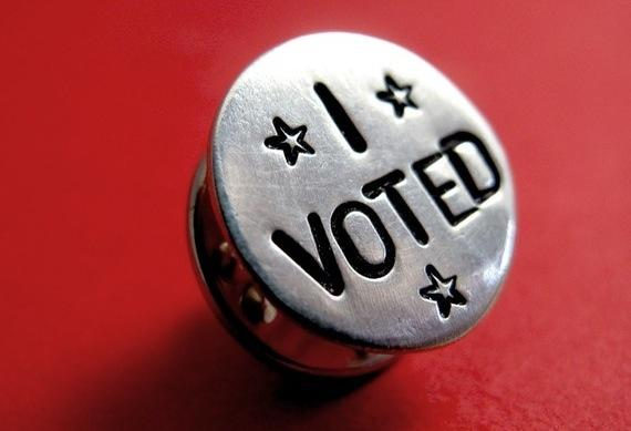 """I Voted"" Sterling Silver Lapel Pin"