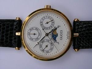 Vintage Triple Calendar Moon Phase Watch