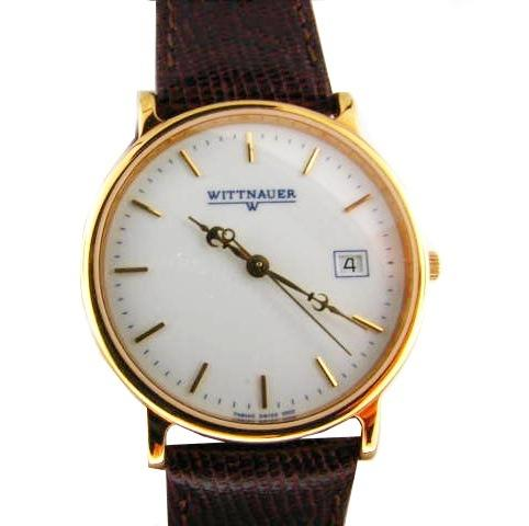 Wristwatch with Brown Leather Band
