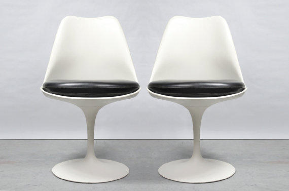 Pair of Eero Saarinen Tulip Side Chairs
