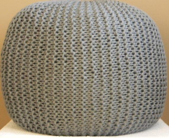 Extra-Large Knit Pouf