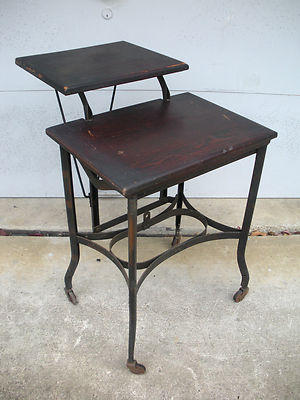 Antique Patina Industrial Typewriter Stand