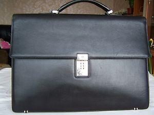 Black Leather Briefcase