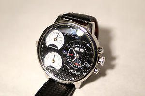 Chrome and Leather Wristwatch