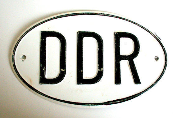 East German Car Plate