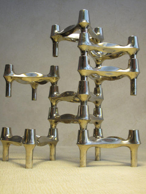 Modular Chrome Candle Holders