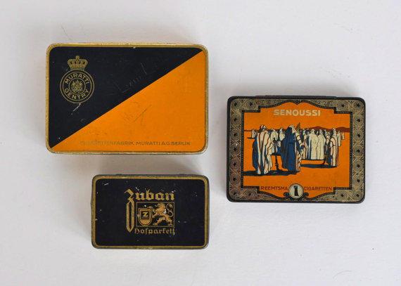 Vintage German Cigarette Tins