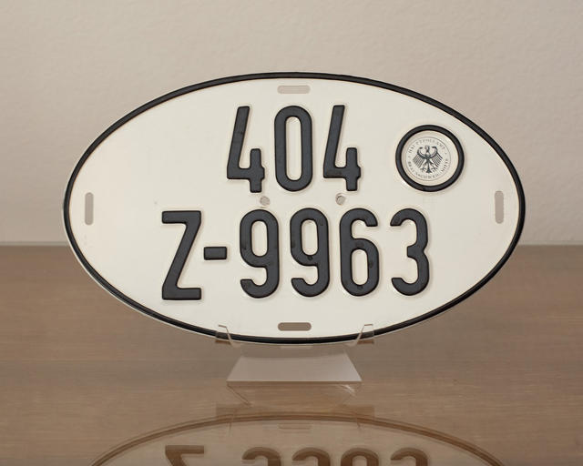 Vintage German License Plate