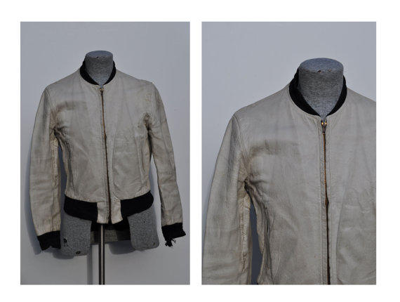Vintage White Goatskin Jacket