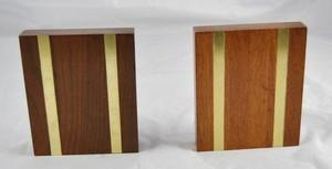 Walnut & Brass Bookends