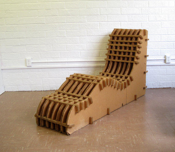 Cardboard Mid-Century Lounge Chair