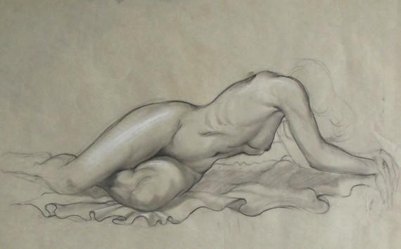 1900s Original Figure Drawing