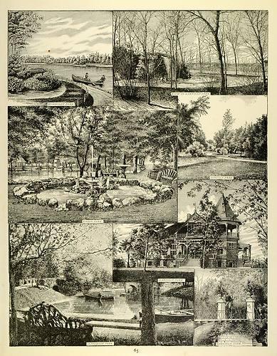 Chicago Public Parks Print, 1893