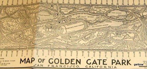 Golden Gate Park Map, 1947