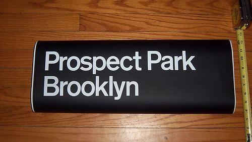 Prospect Park, Brooklyn, Subway Roll Sign Section