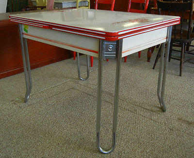 Vintage Enamel Table