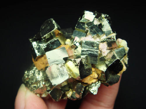 Cubic Pyrite Crystal Cluster
