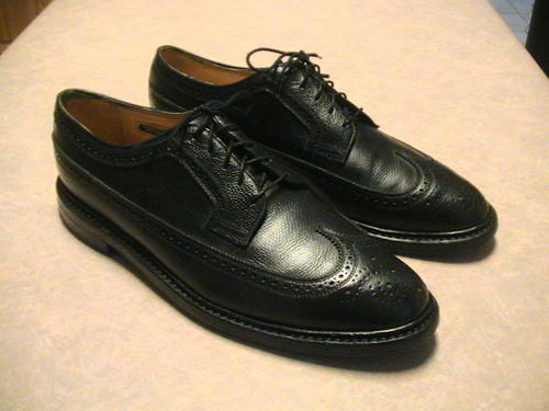 Vintage Imperials Black Leather Wing Tips