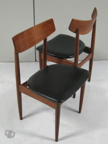 Pair of Teak Wood Chairs