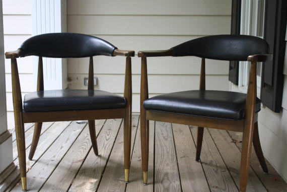 Pair of Pleather Chairs
