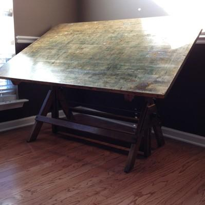 Mid-Century Drafting Table